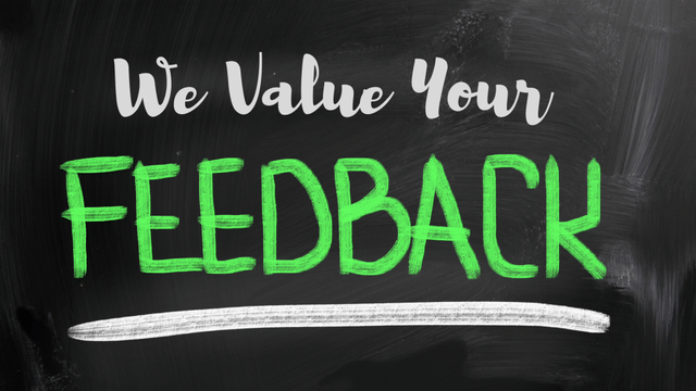 We Value Your Feedback!