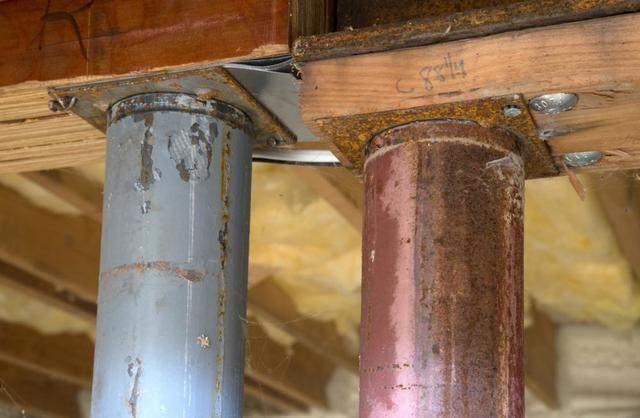 Excess basement humidity and moisture causes rusted pipes, appliances, and more.
