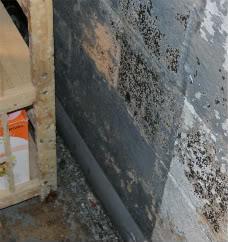 Paint peeling from basement wall