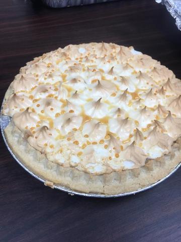 Team members take advantage of National Lemon Meringue Pie Day!