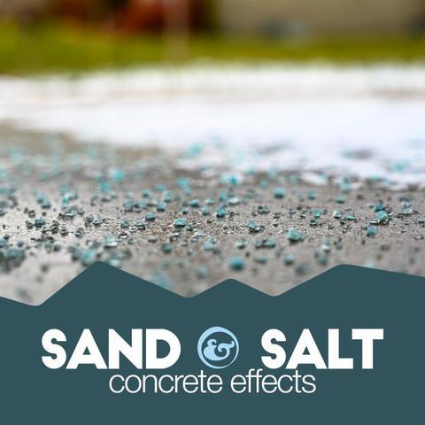 salt and sand on concrete