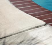 sinking pool deck
