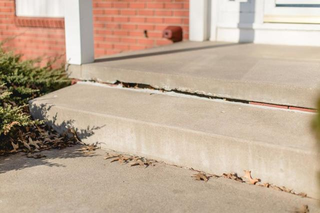 Sunken Concrete Steps needing repaired