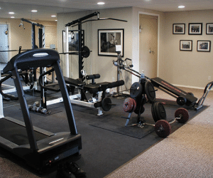 Total Basement Finishing Exercise Workout Room