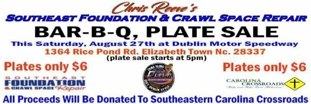 Southeast Foundation & Crawl Space Repair team up with Dublin Speedway for BBQ Plate sale