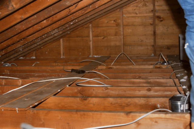 Attic with No Insulation