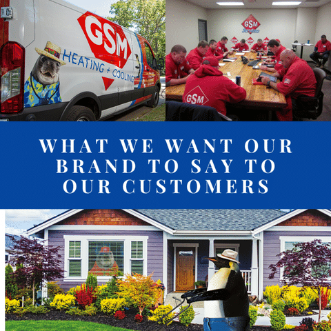 What We Want Our Brand to Say To Customers
