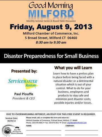 Join us for a free event to help prepare you and your business for the next disaster. ...