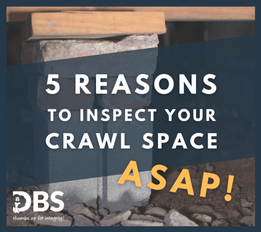 Sagging Crawl space support