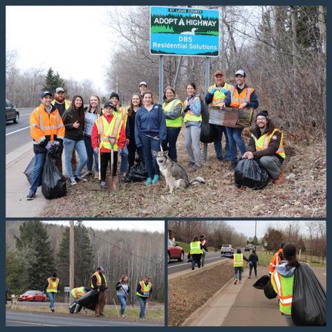 DBS crew cleans-up their Adopt-A-Highway road in Duluth
