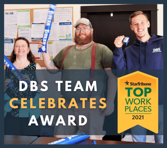 DBS Earns Place Among StarTribune's Top Workplaces in Minnesota