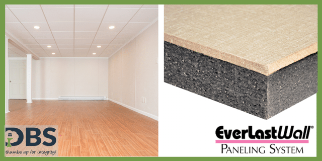 Left: DBS Installed EverLast™ Wall Panels. Right: EverLast™ Wall Panel Cross-section