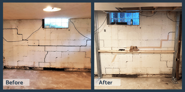 Before and After DBS Wall Repair