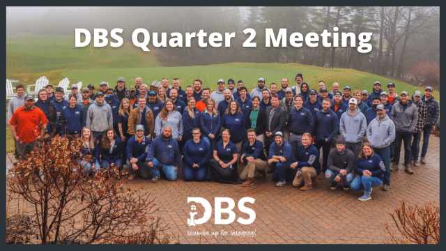 DBS team members gather for a group photo