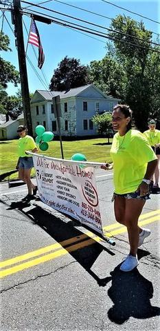 Walked and showed our USA pride in the 4th of July Town of Enfield, CT Parade. Set up our Dr....