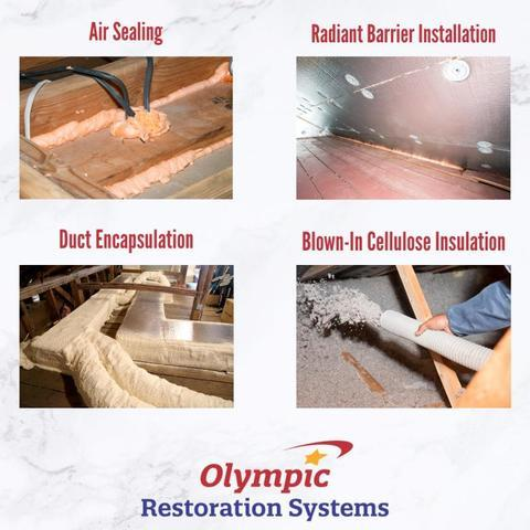 Attic Insulation Services in DFW and Surrounding Area, air sealing, radiant barrier installation, cellulose attic insulation, attic duct encapsulation