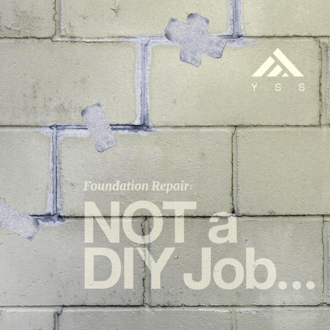 Why you should hire professionals to repair your foundation... Don't DIY!