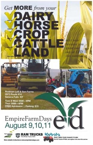 Please stop by and see us at Empire Farm Days - one of the premier agricultural events in the area!...
