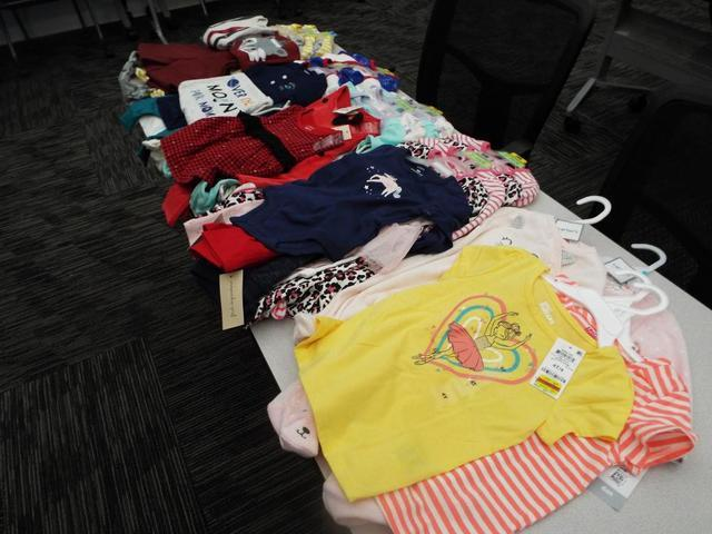 Here are some baby clothes donated to A Caring Place during the 2020 Christmas season.