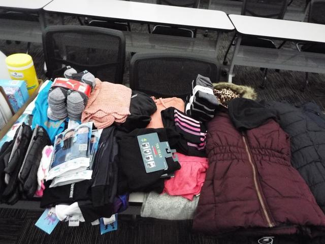 We collected clothes and coats for the YWCA adopt a family program.