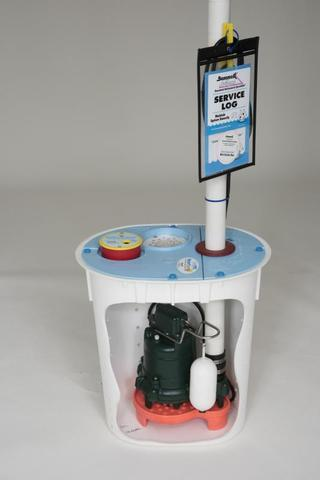 The SmartSump is specifically made for crawl spaces and fits over the CleanSpace liner easily.