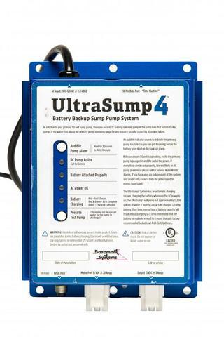 The UltraSump safeguards against primary pump failures, power outages, and circuit tripping.