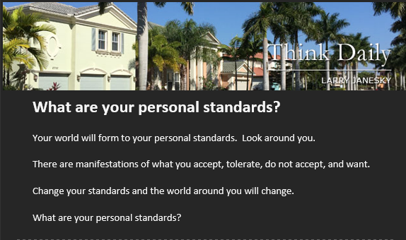 What Are Your Personal Standards?