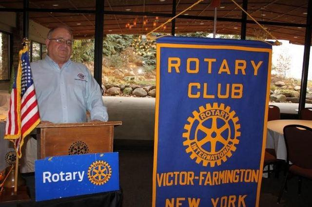 Larry Williamson, a representative of Halco based in Phelps, recently spoke to Victor-Farmington Rotary Club about energy usage and conservation....