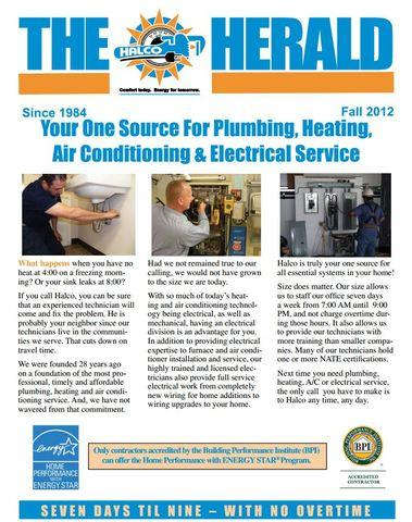 Check Out the Fall 2012 Halco Herald Newsletter!
