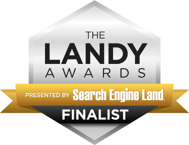 We're Finalists in the 2016 SEO Landy Awards!