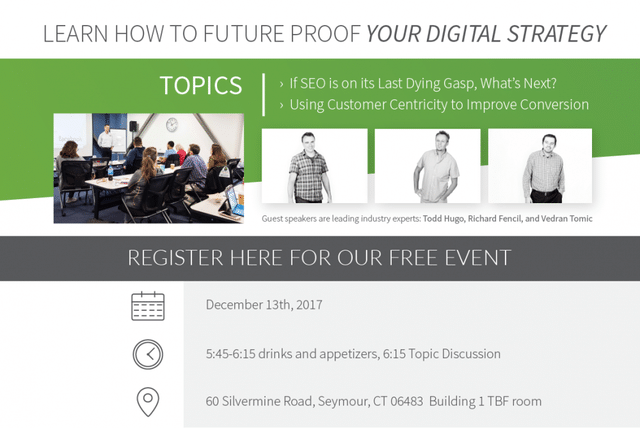 The Treehouse Internet Group is hosting a free event at the Seymour office to discuss the future of SEO and...