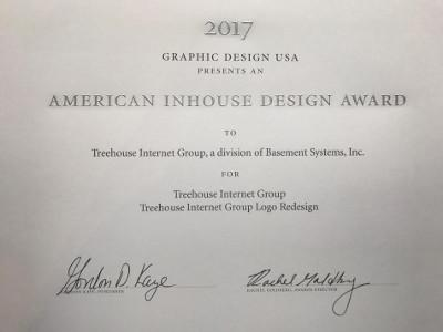 American Inhouse Design Award for logo redesign