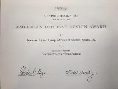 American Inhouse Design Award for website redesign