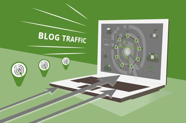 Blog traffic illustration