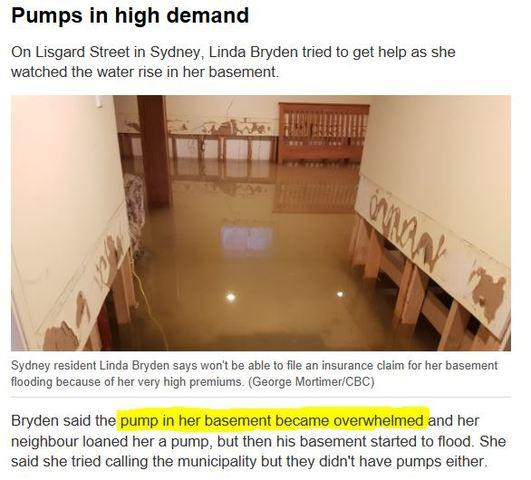 Overwhelmed SUMP PUMPS