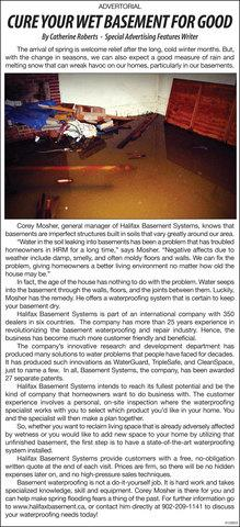 Halifax Basement Systems Featured in the Halifax/Dartmouth/Bedford Weekly N...