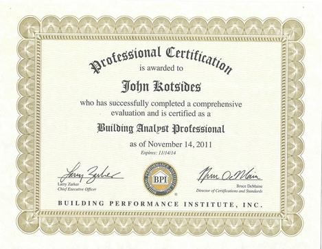 John Kotsides - Building Analyst Professional