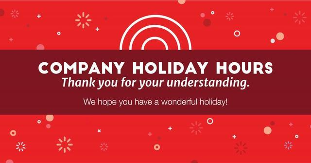 2020 Woodford Holiday Hours