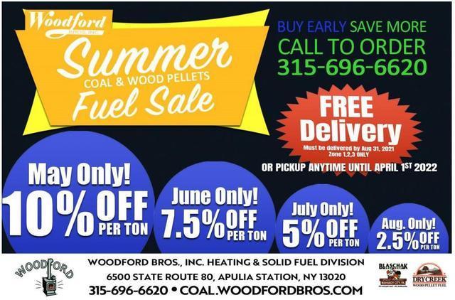2021 Summer Coal & Wood Pellets Fuel Sale