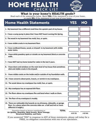 Healthy Home Checklist.