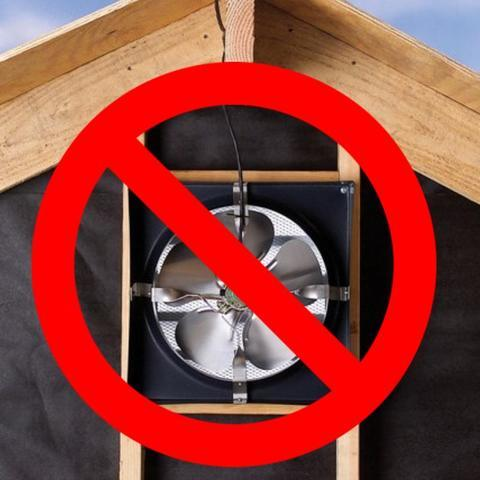 Attic Fans are Not the Answer for Hot Upper Floors.