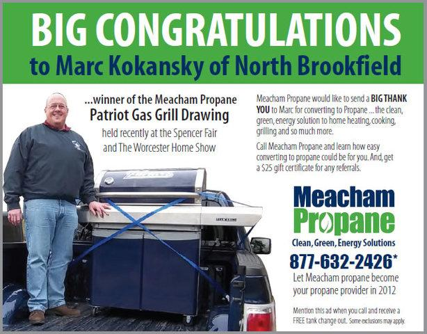 Big Congratulations to Marc K., Winner of the Patriot Gas Grill Drawing