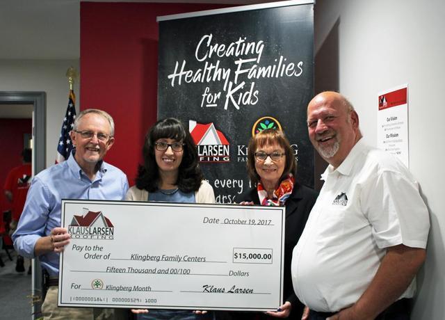 Klaus Larsen Donates $15,000 to Klingberg Family Centers