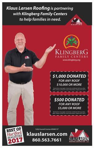 August is Klingberg Month at Klaus Larsen Roofing!