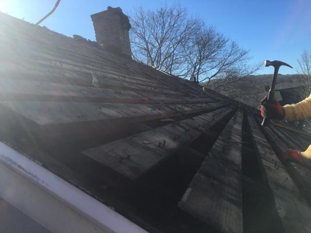 Cedar Shake Roof Installed Under Asphalt Shingles