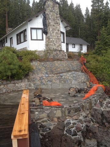 Chimney Repairs at Historic Dollar House Tahoe City, Ca