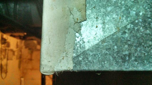 Asbestos tape that is crumbling can be dangerous.