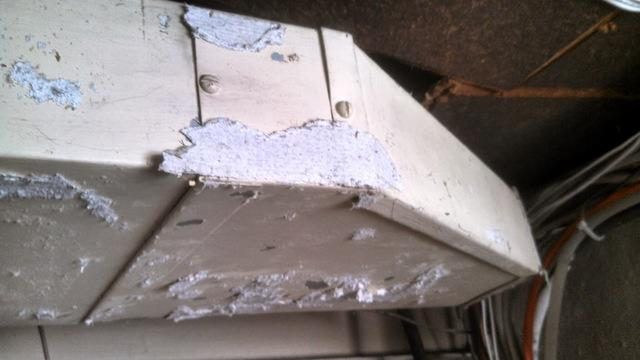 When asbestos wrap is in rough shape, it can release its fibers into the air