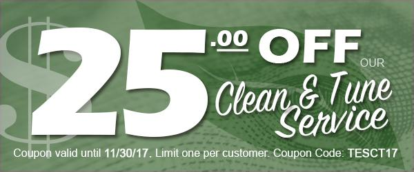 Service Your Furnace: Clean & Tune PLUS a Valuable Coupon