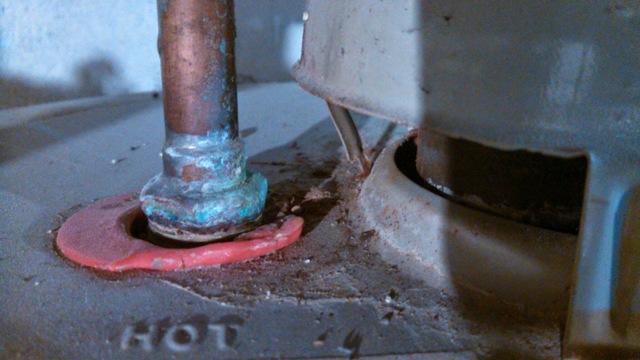 Melted caps on a water heater could indicate a dangerous situation